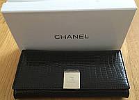 Кошелёк женский кожаный Chanel-черный