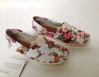 Мокасины (эспадрильи) Toms, женская летняя обувь, в наличии размер 36
