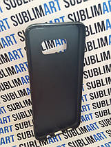Чехол для 2D сублимации резиновый (TPU) на Samsung Galaxy S8 Plus черный, фото 2