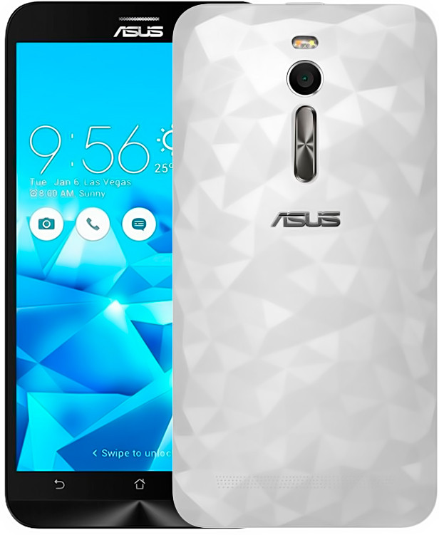 """Смартфон Asus Zenfone 2 Deluxe 4/32Gb Белый кристал, 2sim, 3000mAh, экран 5.5""""IPS, 13/5Мп, GPS, 4G"""
