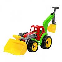 Игрушечные машинки и техника «ТехноК» (3671) Трактор с желтым ковшом, 50 см