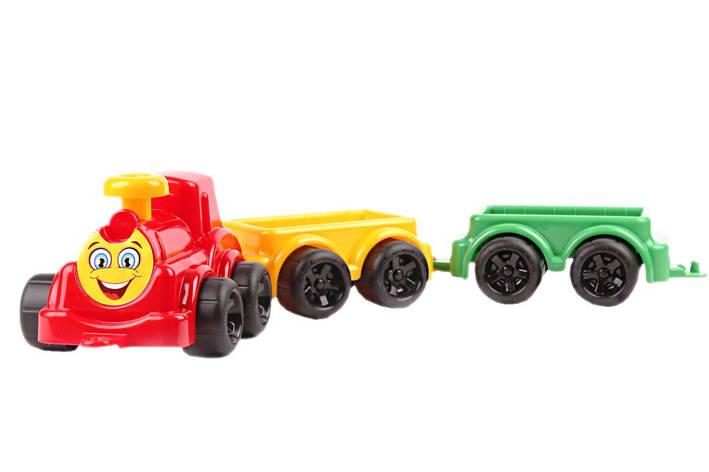 Паровоз з вагонами Максик, червоний «ТехноК» (2339), фото 2