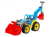 Игрушечные машинки и техника «ТехноК» (3671) Трактор с красным ковшом, 50 см