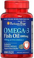 Puritans Pride Omega-3 Fish Oil 1000 mg, 100softgels