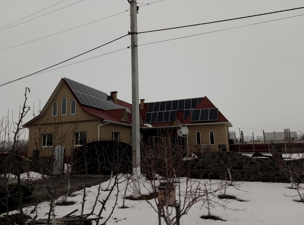 Сетевая солнечная электростанция 13,2 кВт г. Гайворон Кировоградская область