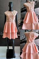 Красивое летнее платье с гипюром р.42,44,46