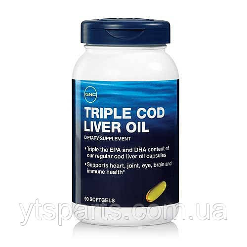 GNC TRIPLE COD LIVER OIL 90 softgels