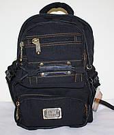 Городской рюкзак черный маленький брезент