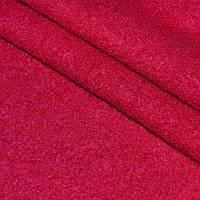 Вареная шерсть пальтовая, ткань лоден, шерстяная для пальто малиновый