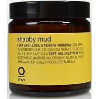Воск мягкой фиксации для волос ROLLAND Oway Shabby Mud (100мл)