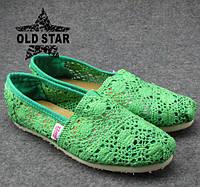 Женская летняя обувь (мокасины), поверхность текстиль. в наличии размер 36 и 37