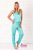 Женская шелковая пижама (майка и штаны) tez641940, фото 1