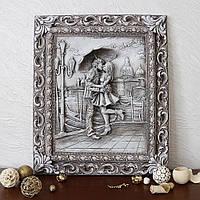 Барельеф Пара под зонтом светящийся Гранд Презент КР 910 камень светит