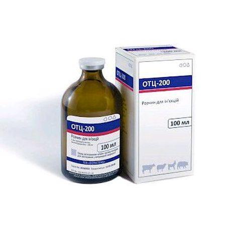 Отц-200 раствор окситетрациклина для лечения овец, коз, свиней.