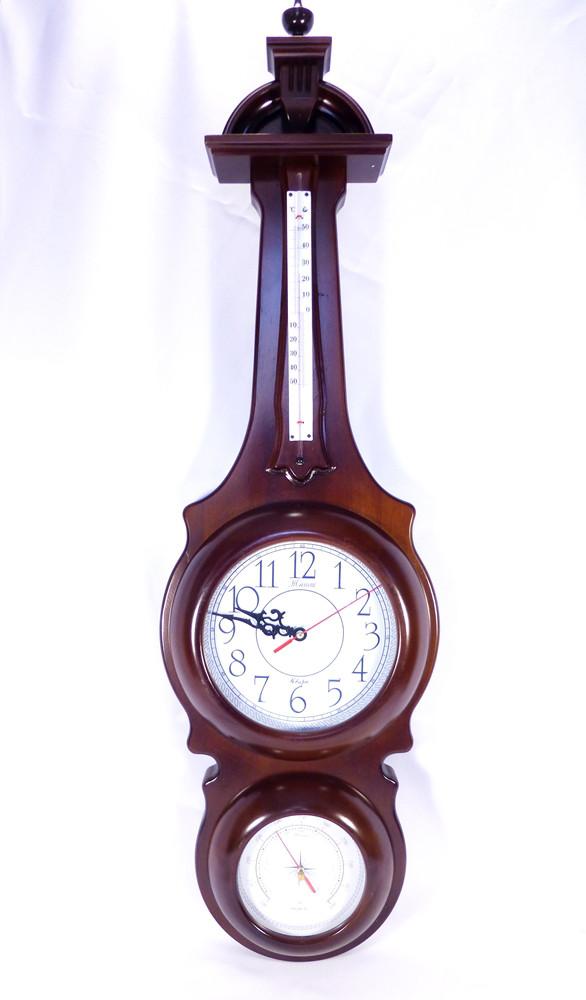 Часы настенные, барометр, термометр прямоугольный Гранд Презент 8/780 х 250 х 80