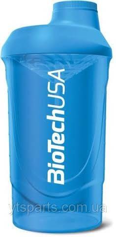 BioTech Шейкер 600 мл голубой