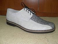 """Мужская обувь """"Комфорт-орнамент черный"""""""
