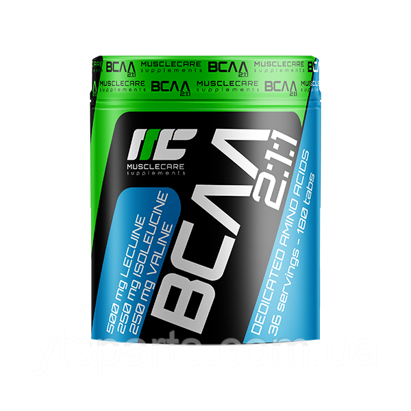 MuscleCare Bcaa 2:1:1 180 tabs маслкеар бцаа