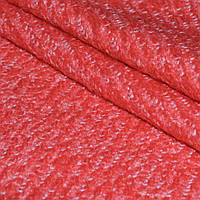 Вареная шерсть пальтовая, ткань лоден, шерстяная для пальто букле, буклированая диагональ ало белый
