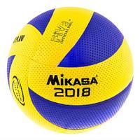 Мяч волейбольный клееный MIKASA MVA200/2018 PVC 004 Blue