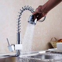 Кухня смеситель с возможностью поворота раковина водопроводный кран весной вытащить спрей раковина медные латунные матовая сталь