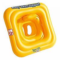 Надувной плотик дет. 69х69см, желтый BW32050