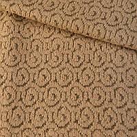 Пальтовый трикотаж завиток бежевый ш.145 ткань