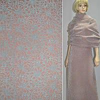 Пальтовая ткань с рисунком из флока шерстяная