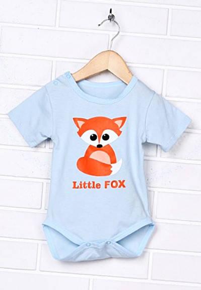 """Детский боди """"Little Fox"""" с коротким рукавом летний"""