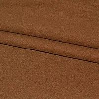 Ткань пальтовая, пальтовка, шерстяная, шерсть на трикотаж ткань трикотажной основе однотонная коричневая