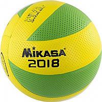 """Мяч волейбольный """"Mikasa"""" PVC 004 green MVA-200 / 2018G"""