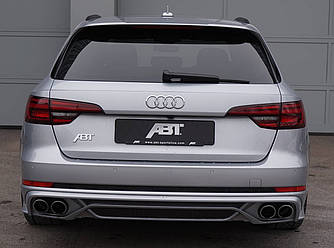 Диффузор Audi A4 B9 тюнинг обвес стиль ABT