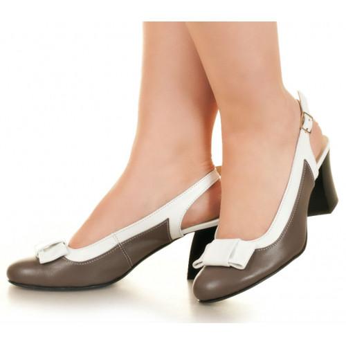 Босоножки на каблуке, из натуральной кожи, с застежкой. Четыре цвета! Размеры 36-41 модель S3644