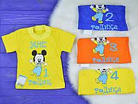 """Детская футболка """"Возраст"""" для мальчиков (кулир)"""