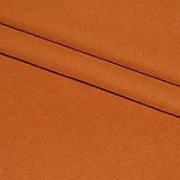 Ткань пальтовая, пальтовка, шерстяная, шерсть на трикотаж ткань трикотажной основе однотонная оранжево рыжая