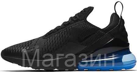 Мужские спортивные кроссовки Nike Air Max 270 Black Найк Аир Макс 270 черные, фото 2