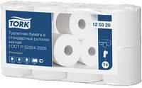 Tork туалетная бумага в стандартных рулонах, 2-х слойная, 8 рулонов  100% целлюлоза, 23м, 184 листов 120320