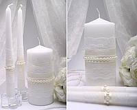 Набор свадебных свечей Жемчужины
