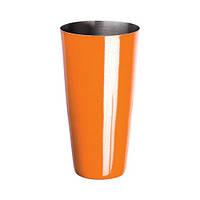 Стакан шейкер порошковое напыление оранжевый