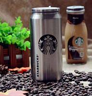 Термокружка банка Starbucks PTKL-360, термос в виде банки 0,5л, компактная термокружка