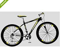 Спортивный велосипед 29 дюймов EB29 SUPREME1.0 A29.2 черно-желтый ***
