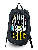 Рюкзак с фотопечатью Work Hard Dream Big