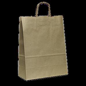 Пакет паперовий з ручками  250*130*320  Крафт (955)