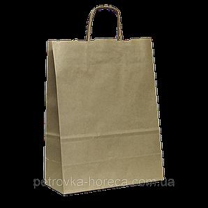 Пакет паперовий з ручками 180*85*220  Крафт (687)