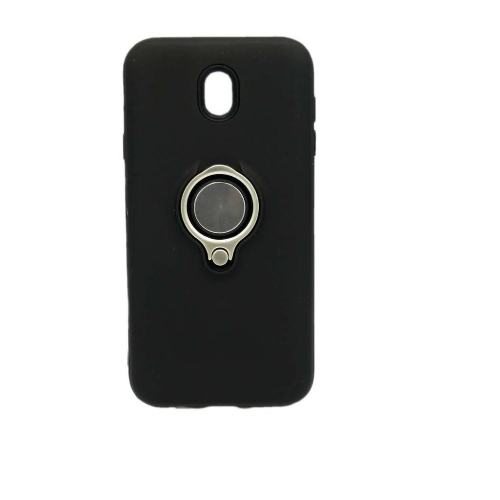 Чехол накладка для Samsung Galaxy J7 2017 J730 силикон и пластик с магнитным кольцом, Nice case, черный