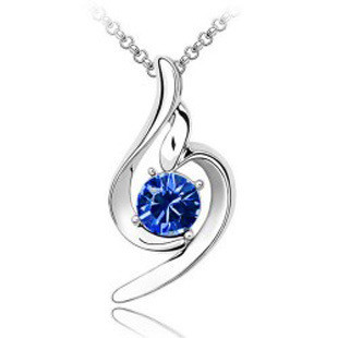 Молодежный кулон для девушки с синим камнем!