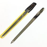 """Пилочка для ногтей SPL 9828, """"фигаро"""" с металлической насечкой 18,5 см"""