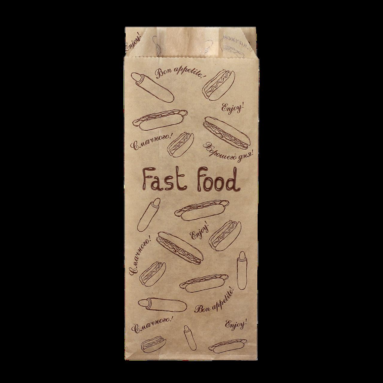 """Пакет паперовий """"Французький  FAST FOOD"""" 170*70*40 100шт (841)"""