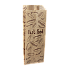 """Пакет паперовий """"Французький  FAST FOOD"""" 170*70*40 100шт (841), фото 2"""