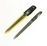 """Пилочка для ногтей SPL 9804, """"фигаро"""" с металлической насечкой 13 см"""